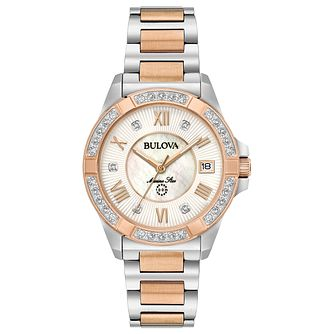 Bulova Ladies' Marine Star Rose Gold & Steel Bracelet Watch - Product number 6182593
