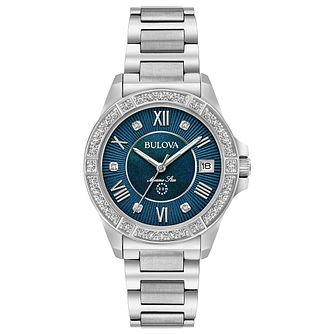 Bulova Ladies' Diamond Stainless Steel Bracelet Watch - Product number 6182623