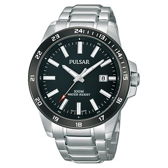 Pulsar Men's Black Dial Stainless Steel Bracelet Watch - Product number 6182674