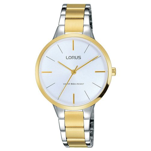 Lorus Ladies' Round Dial Gold and Steel Bracelet Watch - Product number 6183662
