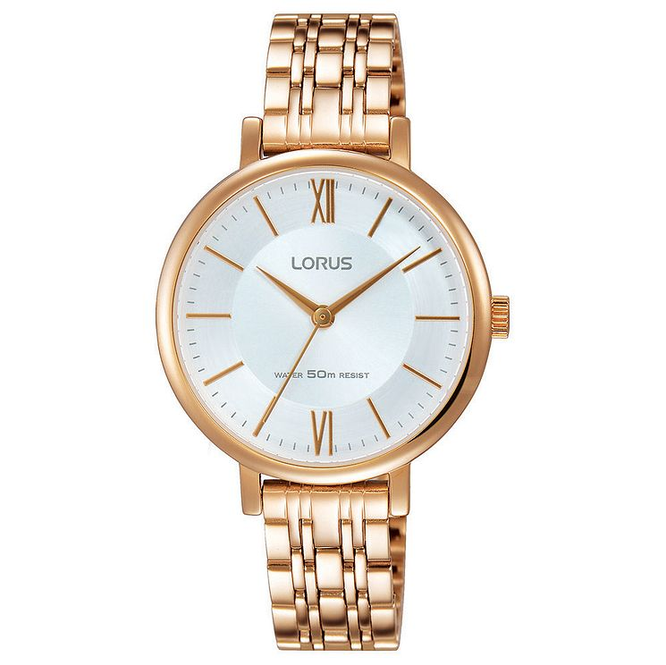Lorus Ladies' Rose Gold Wrapped Bracelet Watch - Product number 6183689