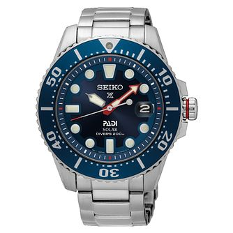 Seiko Prospex Men's Solar Stainless Steel Bracelet Watch - Product number 6187986