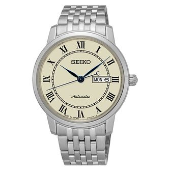 Seiko Presage Men's Automatic Stainless Steel Bracelet Watch - Product number 6188109