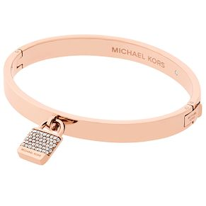 Michael Kors Rose Gold Tone Stone Set Bangle - Product number 6188230