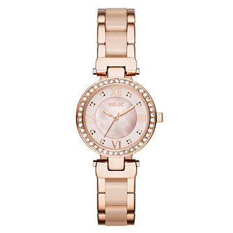 Relic Selma Ladies' Rose Gold and Acetate Bracelet Watch - Product number 6193528