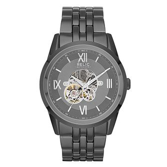 Relic Blaine Men's Gunmetal Automatic Bracelet Watch - Product number 6193552
