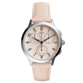 Fossil Ladies' Pink Dial Pink Leather Strap Watch - Product number 6193579