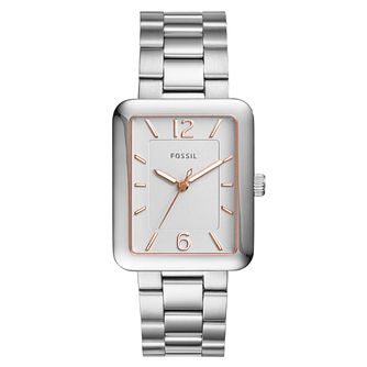 Fossil Ladies' Silver Dial Stainless Steel Bracelet Watch - Product number 6193595
