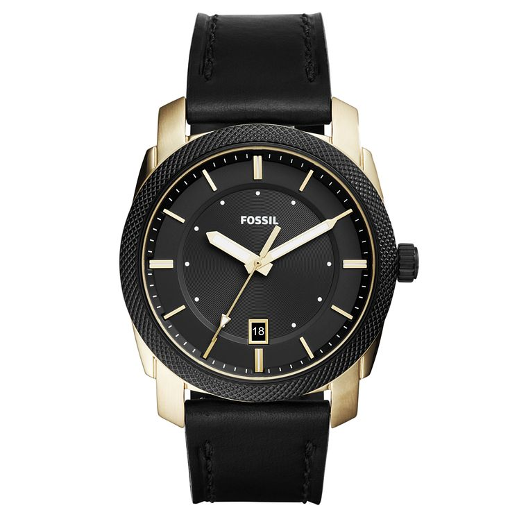Fossil Men's Black Dial Black Leather Strap Watch - Product number 6193617