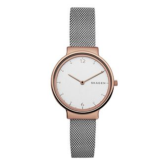 Skagen Ladies' White Dial Stainless Steel Bracelet Watch - Product number 6193668