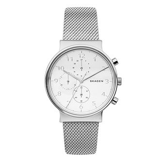Skagen Men's Chronograph Stainless Steel Mesh Bracelet Watch - Product number 6193722