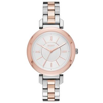 DKNY Ladies' 2 Colour Stainless Steel Bracelet Watch - Product number 6193773