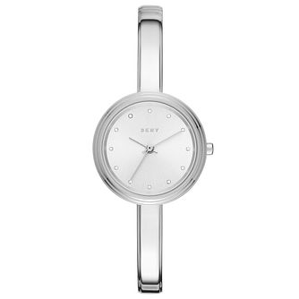DKNY Ladies' Silver Dial Stainless Steel Bangle Watch - Product number 6193854