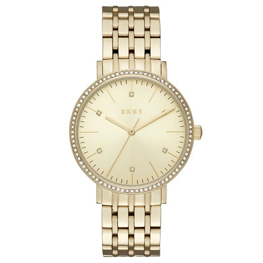 DNKY Ladies' Stone Set Gold-Plated Bracelet Watch - Product number 6193870