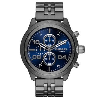 Diesel Men's Gunmetal Stainless Steel Bracelet Watch - Product number 6193994