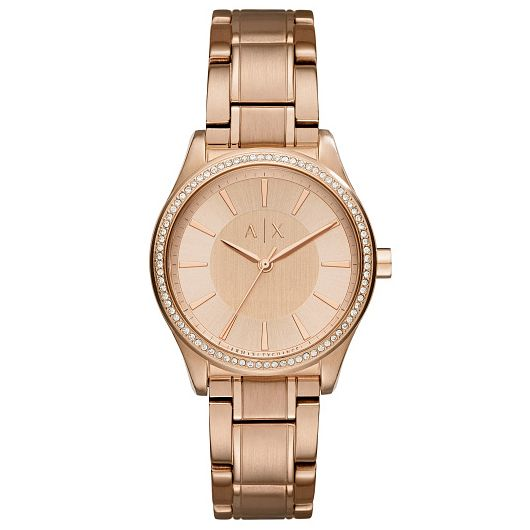 Armani Exchange Ladies' Rose Gold-Plated Bracelet Watch - Product number 6194044