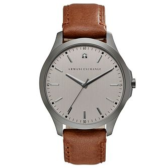 Armani Exchange Men's Brown Leather Strap Watch - Product number 6194117
