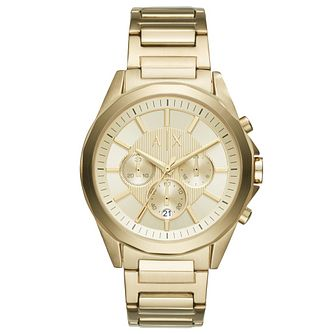 Armani Exchange Gold Tone Dial Gold-Plated Bracelet Watch - Product number 6194168