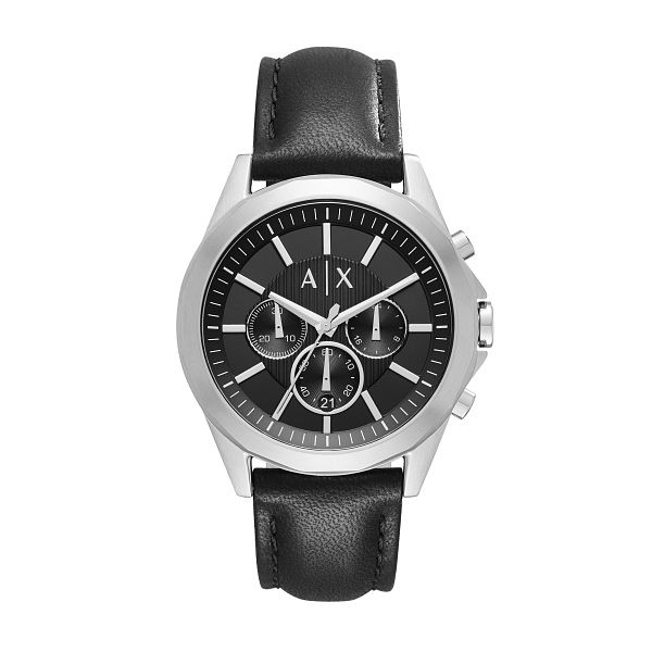 Armani Exchange Men's Black Leather Strap Watch - Product number 6194176