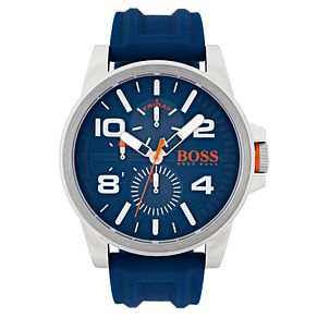 Hugo Boss Orange Men's Blue Silicone Strap Watch - Product number 6194230