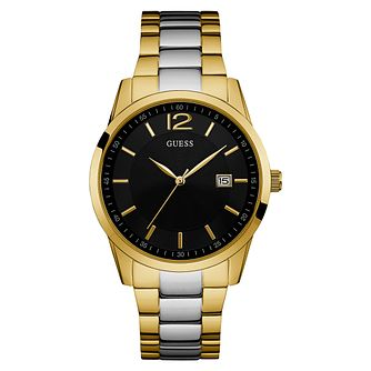 Guess Men's Gold Plated Stainless Steel Bracelet Watch - Product number 6195032