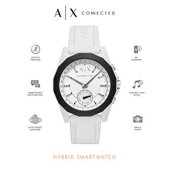 Armani Exchange Connected Men's White Hybrid Smartwatch - Product number 6202586