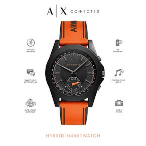Armani Exchange Connected Men's Orange Hybrid Smartwatch - Product number 6202616