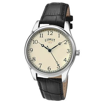 Limit Men's Black Leather Strap Watch - Product number 6205615