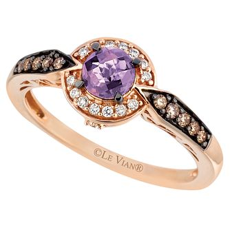 Le Vian 14ct Strawberry Gold Amethyst & 0.18ct Diamond Ring - Product number 6208495