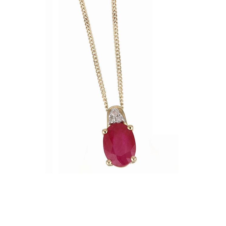 Ruby necklaces ernest jones 9ct yellow gold ruby necklace product number 6209351 mozeypictures