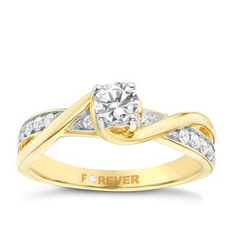 18ct Yellow Gold 1/2 Carat Forever Diamond Ring - Product number 6212514