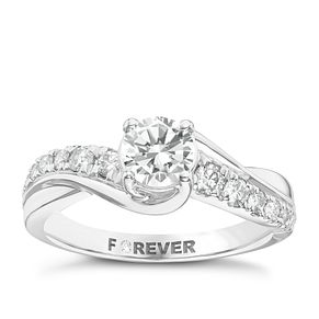 Platinum 1 Carat Forever Diamond Ring - Product number 6213111