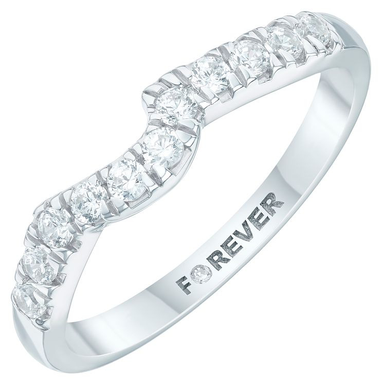 Platinum 1/4 Carat Forever Diamond Ring - Product number 6213863
