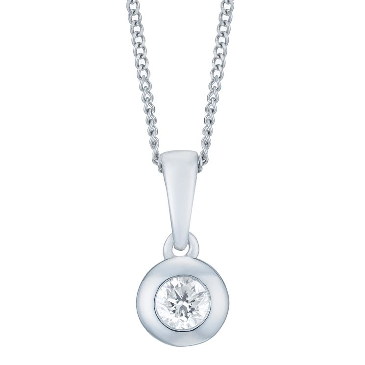 18ct White Gold 1/10 Carat Forever Diamond Pendant - Product number 6214037