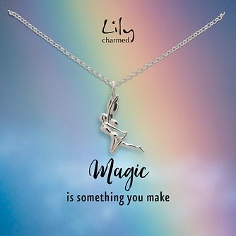 Lily Charmed Silver Fairy Pendant - Product number 6214193