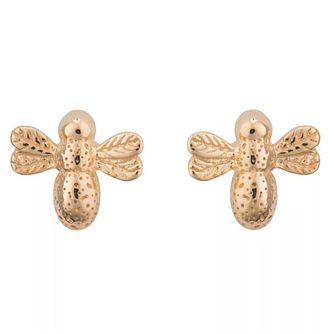 Lily Charmed Gold-Plated Queen Bee Stud Earrings - Product number 6214231