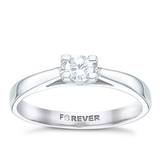 Platinum 1/5 Carat Forever Diamond Solitaire Ring - Product number 6214746