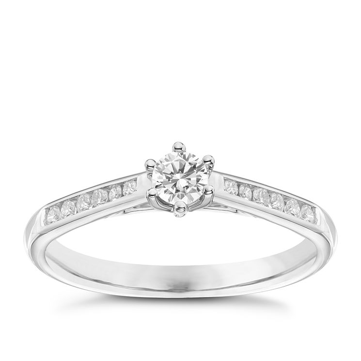9ct White Gold 1/4ct Forever Diamond Ring - Product number 6215335