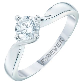 Palladium 0.66 Carat Forever Diamond Ring - Product number 6216013