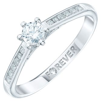 9ct White Gold 1/3 Carat Forever Diamond Ring - Product number 6216145