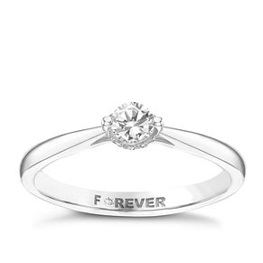 Palladium 1/4 Carat Forever Diamond Ring - Product number 6216285