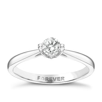 Palladium 1/3 Carat Forever Diamond Ring - Product number 6216412
