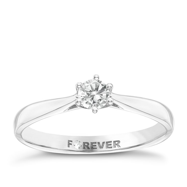 18ct White Gold 1/4 Carat Forever Diamond Ring - Product number 6218822