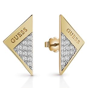 Guess Gold-Plated Sparkle Folded Stud Earrings - Product number 6220088
