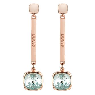 Guess Rose Gold-Plated Swarvoski Crystal Coloured Earrings - Product number 6220193