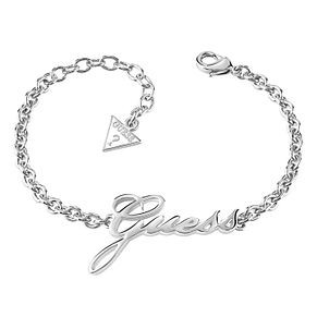 Guess Rhodium-Plated Guess Logo Adjustable Bracelet - Product number 6220215