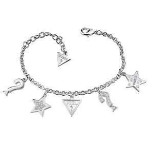 Guess Rhodium-Plated Swarovski Crystal Charm Bracelet - Product number 6220304