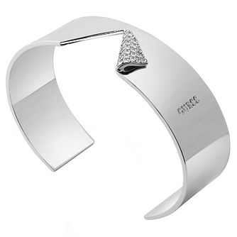 Guess Rhodium Plated Swarovski Crystal Bangle - Product number 6220312