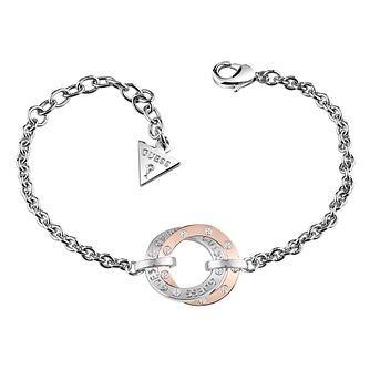 Guess Rhodium & Rose Gold Plated Bracelet - Product number 6220363