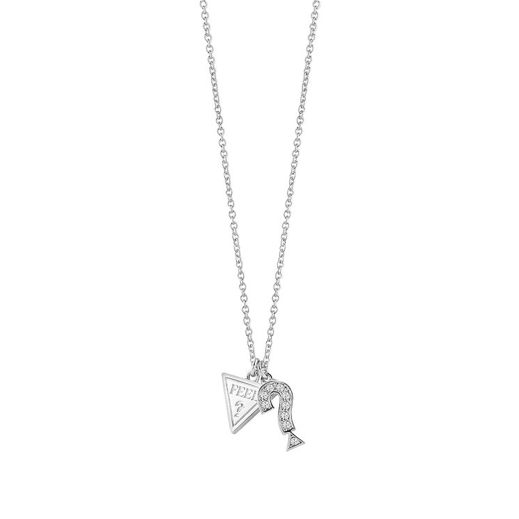 Guess Rhodium-Plated 'Feel' Necklace - Product number 6220487